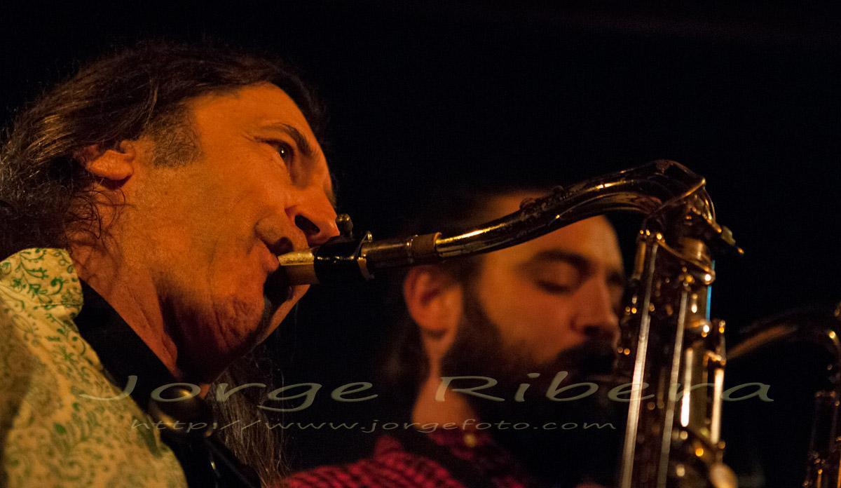 9 Noviembre 2012; Jorge Pardo Huellas septet con Javier Vercher. Club Jimmy Glass, Valencia. - JorgePardo-JavierVercher_JimmyGlass_2012_2
